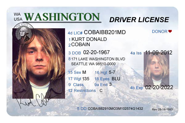 Fake Id Template Download Lovely Washington Driver S License Editable Psd Template Download