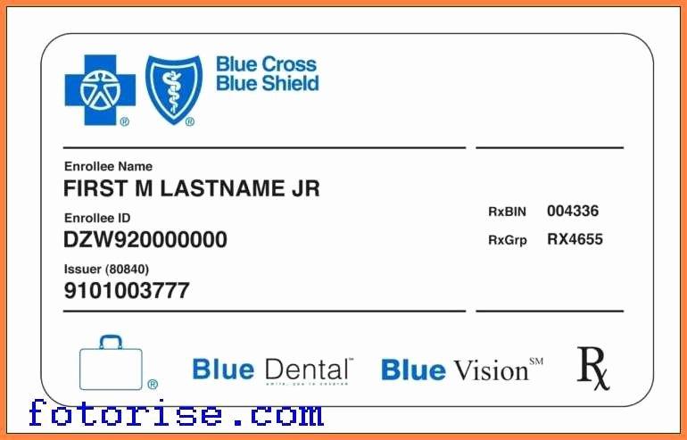 Fake Insurance Card Template Beautiful Fake Health Insurance Card Ibrizz