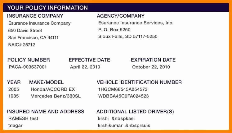 Fake Insurance Card Template Inspirational 15 Free Fake Auto Insurance Card Template