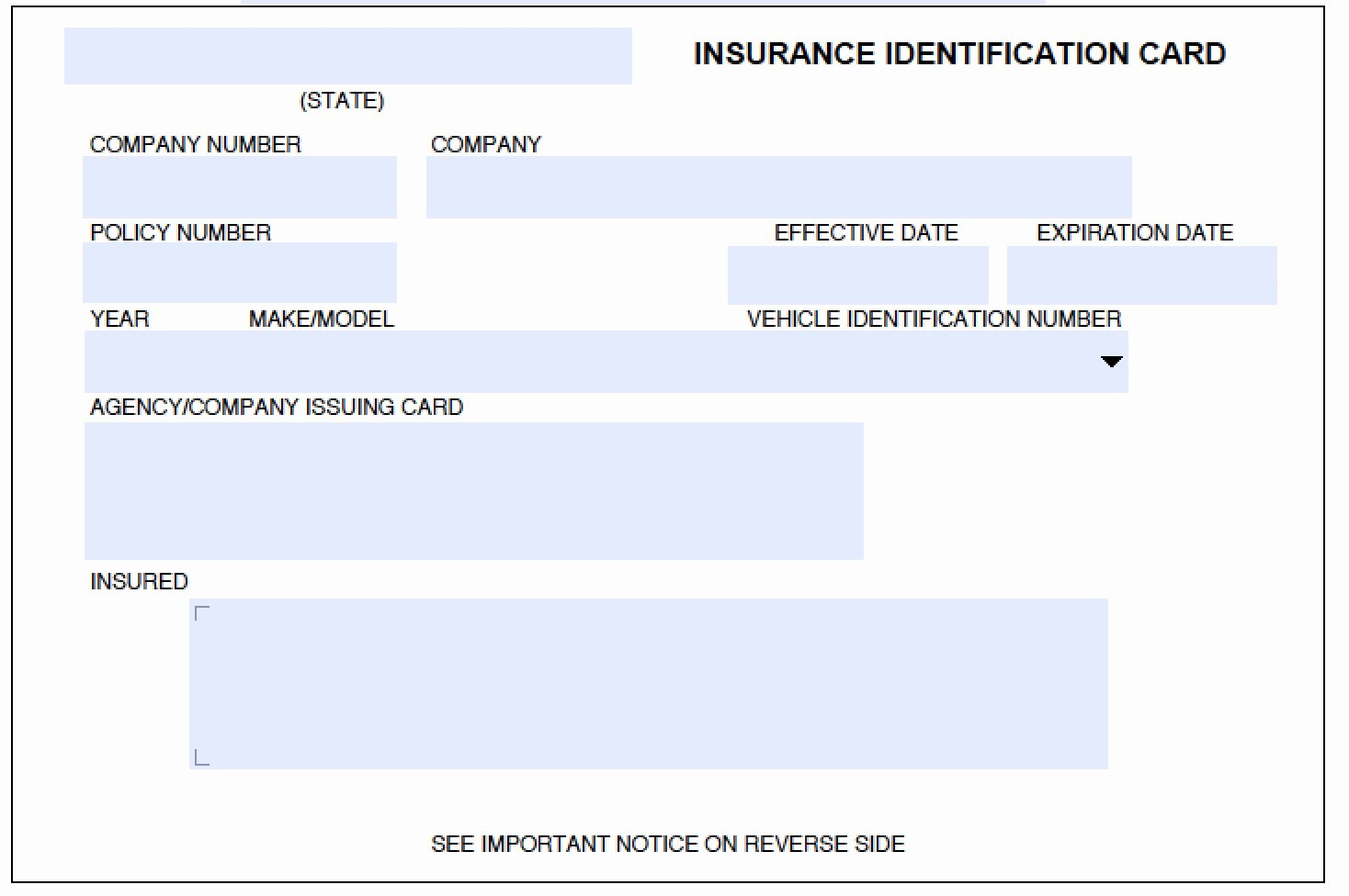 Fake Insurance Card Template Luxury Download Auto Insurance Card Template Wikidownload