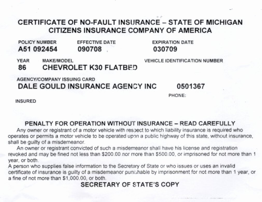 Fake Insurance Card Template Unique Proof Auto Insurance Template Free
