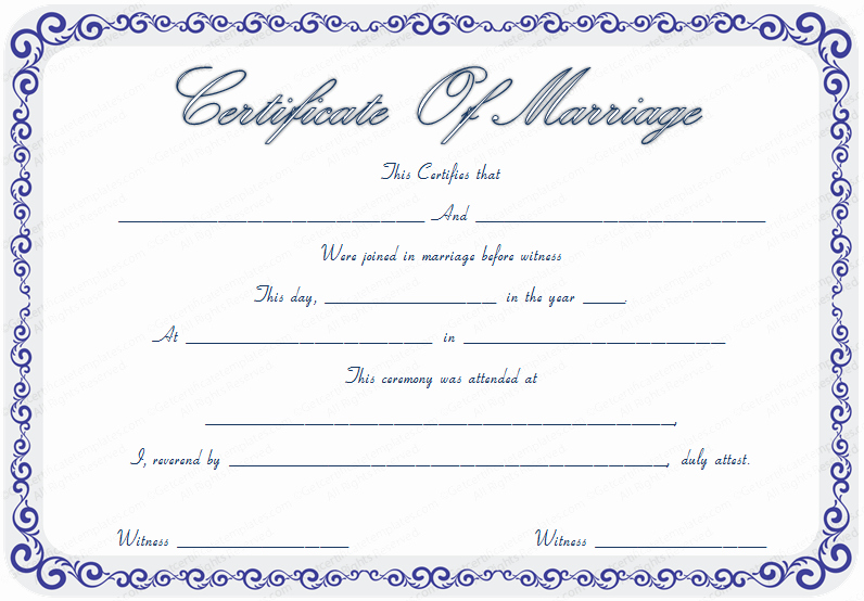 Fake Marriage Certificate Template Beautiful Marriage Certificate Template