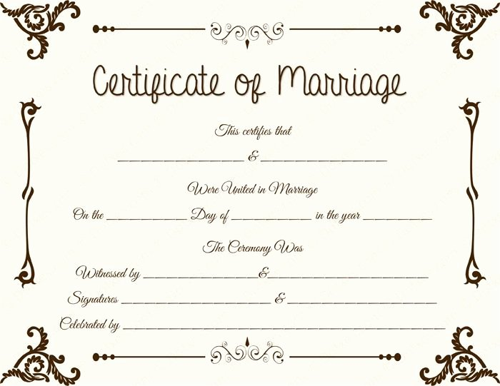 Fake Marriage Certificate Template Best Of 34 Best Printable Marriage Certificates Images On Pinterest
