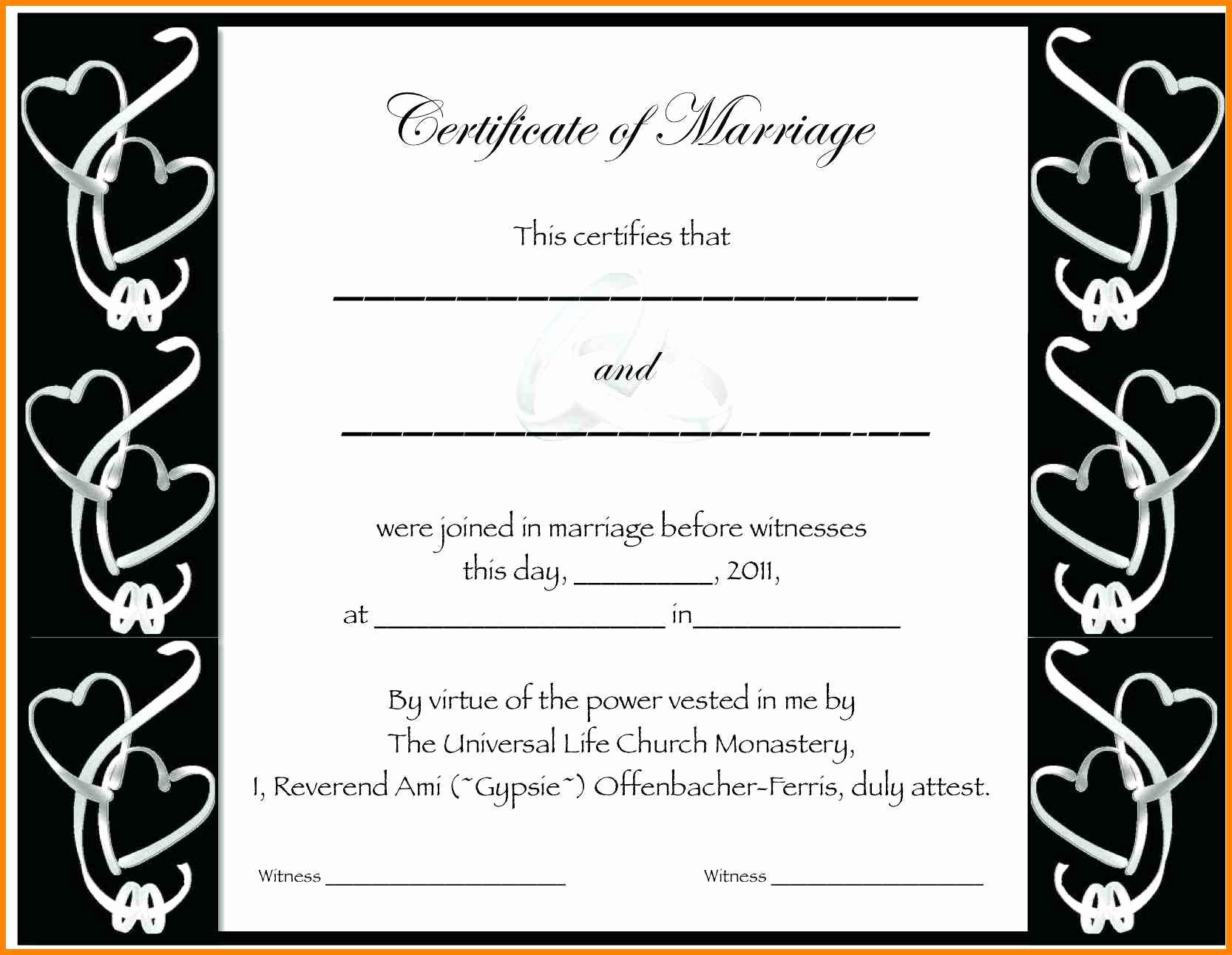 Fake Marriage Certificate Template Elegant 5 Fake Marriage Certificate Template Free