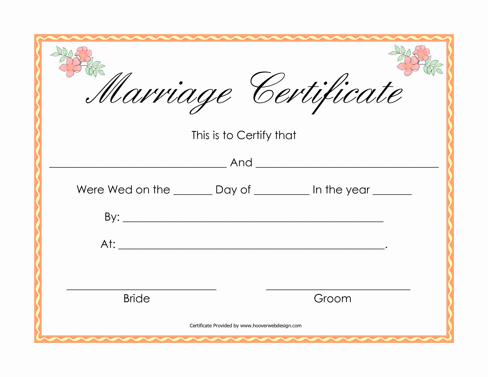 Fake Marriage Certificate Template Fresh Best S Of Printable Fake Marriage License Printable