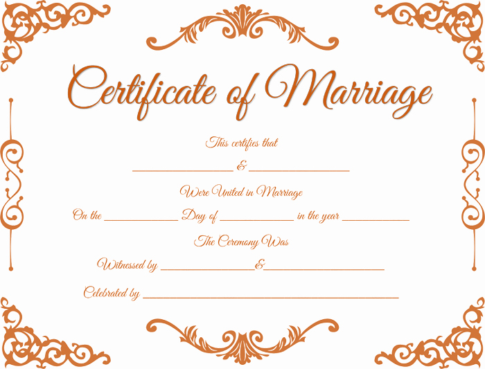 Fake Marriage Certificate Template Fresh Traditional Corner Marriage Certificate Template Dotxes
