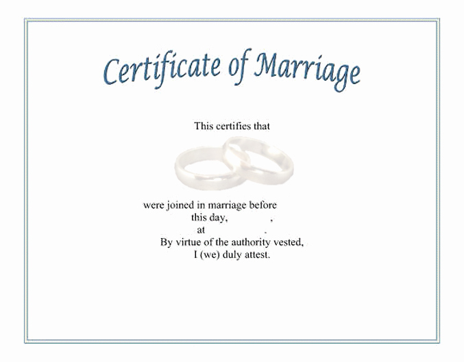 Fake Marriage Certificate Template Lovely Funny Marriage Certificate Templates to Pin On