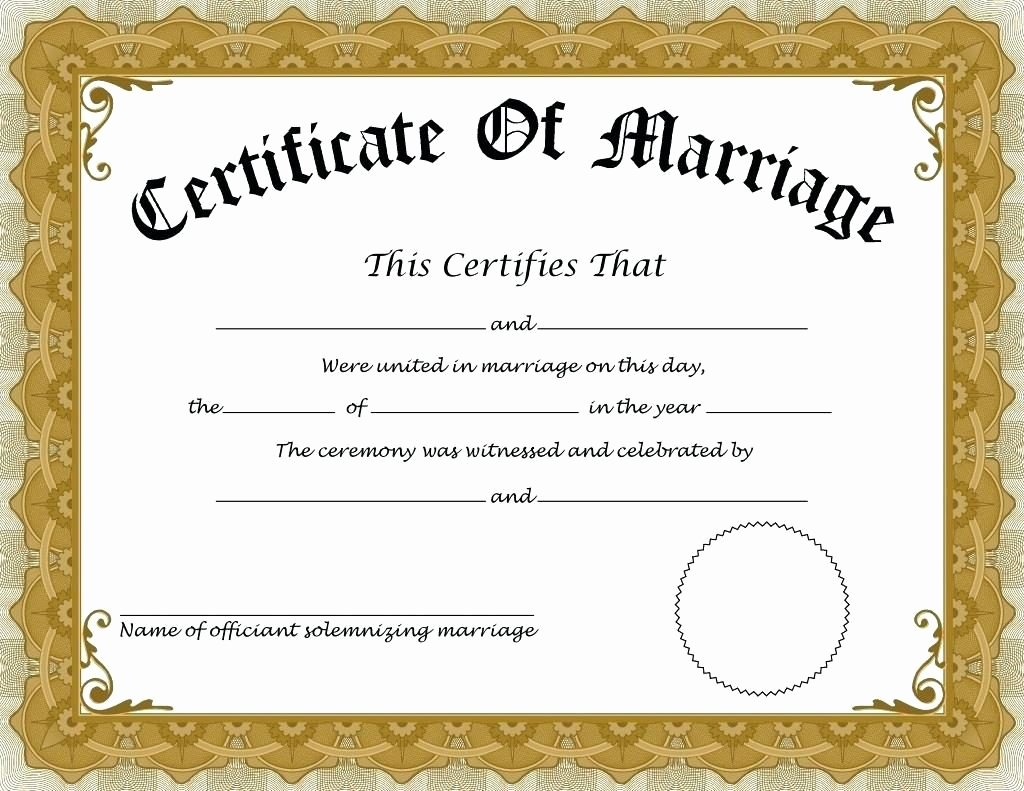 Fake Marriage Certificate Template Luxury How to Apply for Marriage Certificate In India – Details