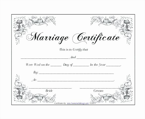 Fake Marriage Certificate Template Luxury Line Marriage Certificate Printable License Copy Fake