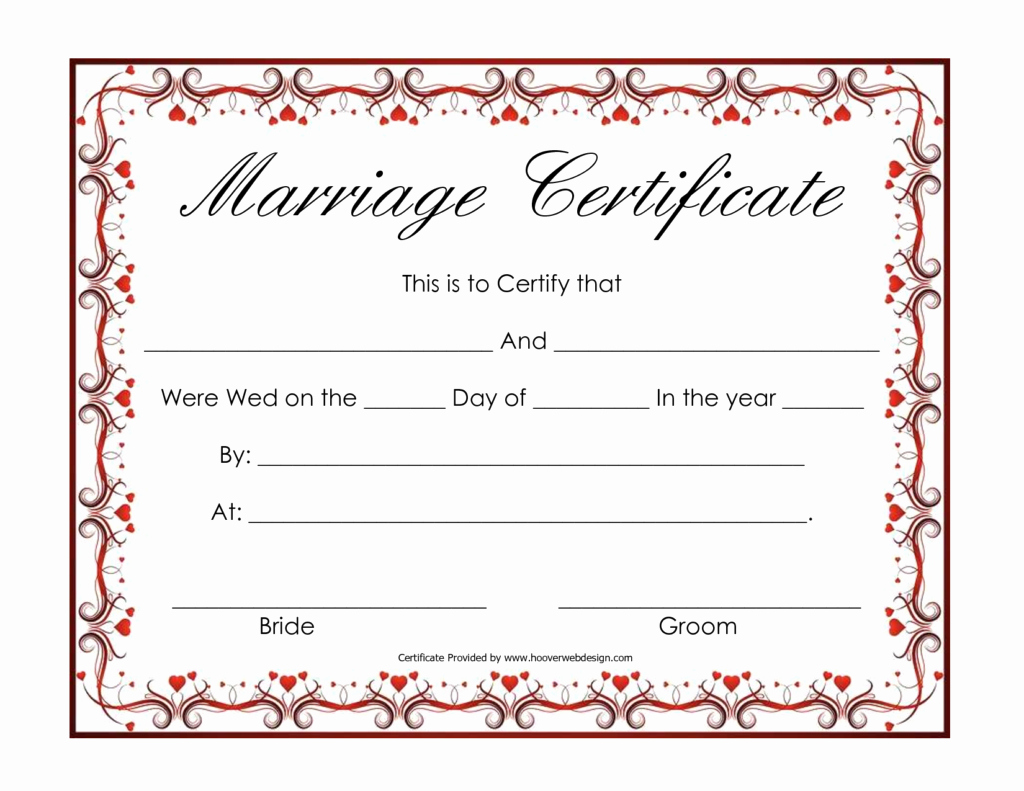 Fake Marriage Certificate Template Luxury Marriage Certificate Template