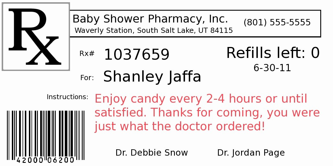 Fake Prescription Label Template Beautiful Diy Project Pill Bottle Party Favors Fun Cheap or Free