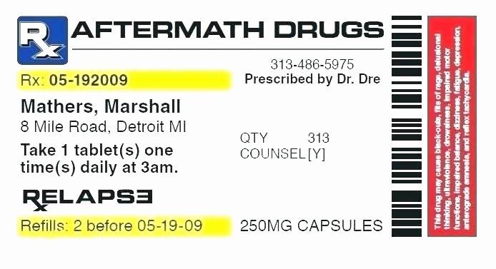 Fake Prescription Label Template New Prescription Pill Bottle Label Template