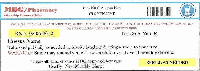Fake Prescription Label Template Unique Invite and Delight Fake An Injury Party sooo Fun