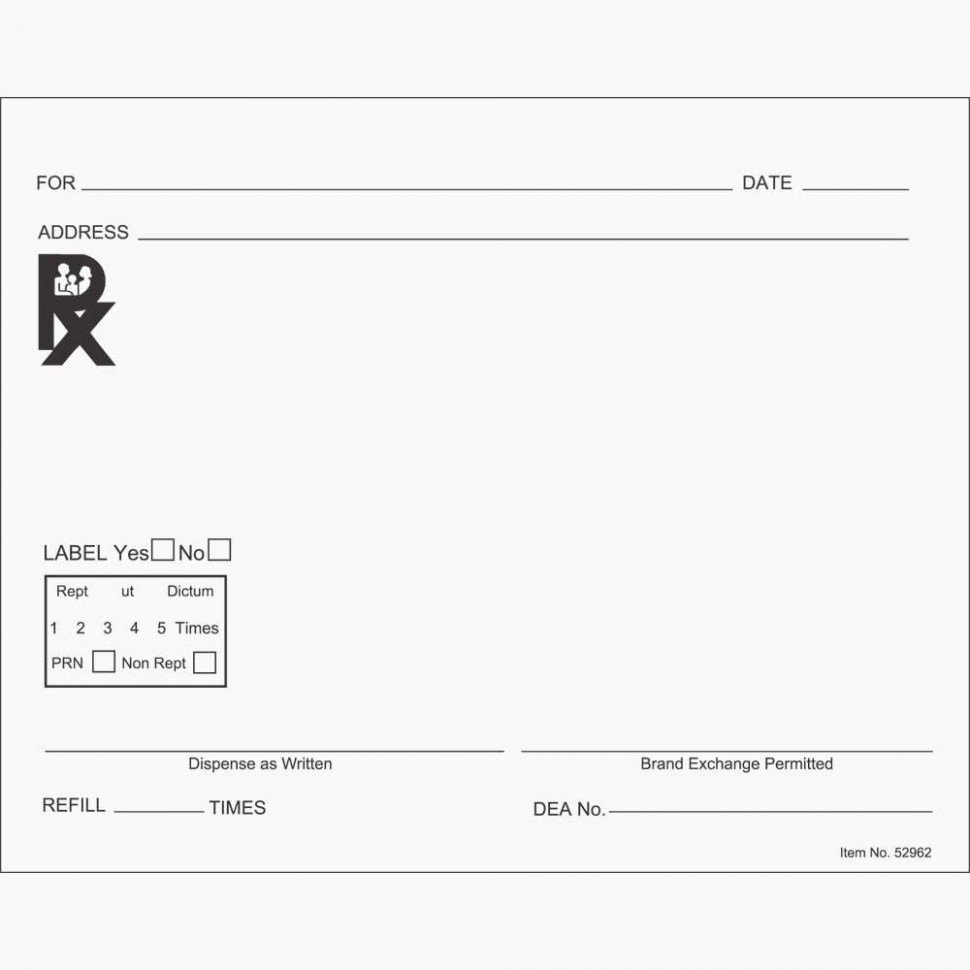 Fake Prescription Pad Template Awesome the Modern Rules