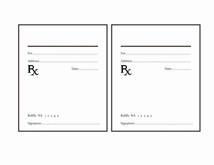 Fake Prescription Pad Template Elegant Fake Prescription Pad Template Prescription Blank Template