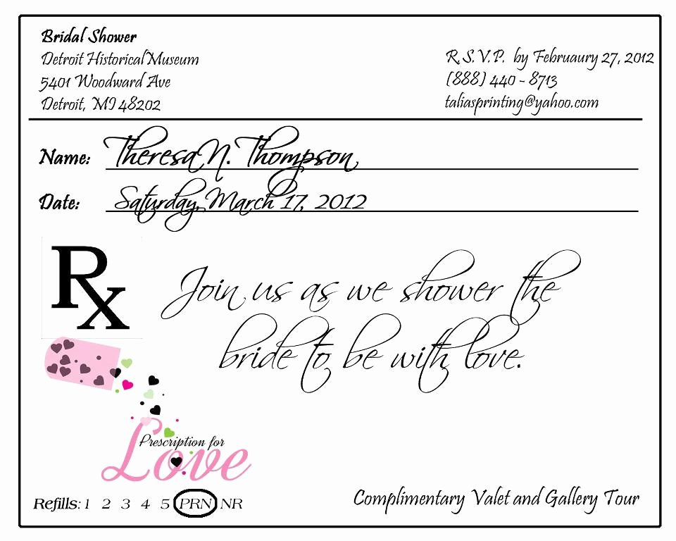 Fake Prescription Pad Template Elegant Prescription Pad Invitation Custom Listing for by