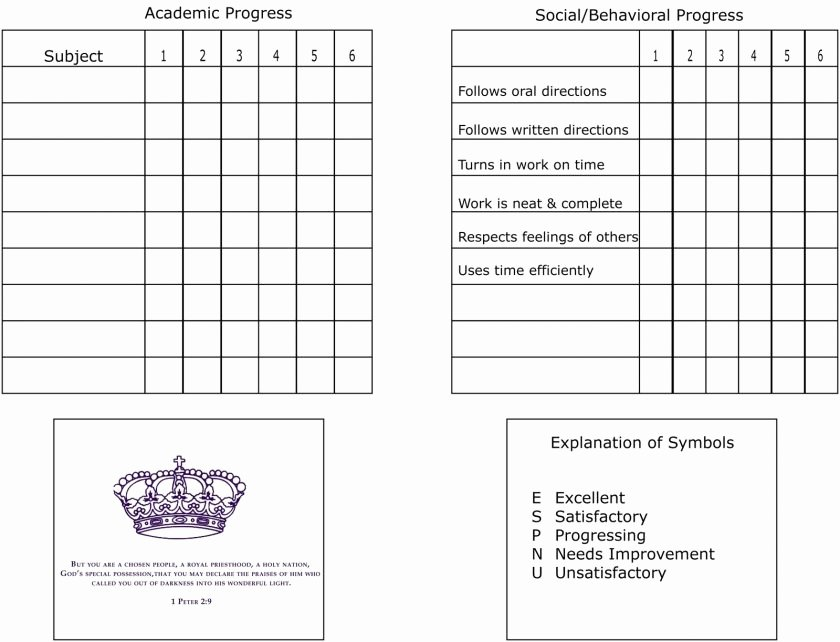 Fake Report Card Template Beautiful Report Card Template College
