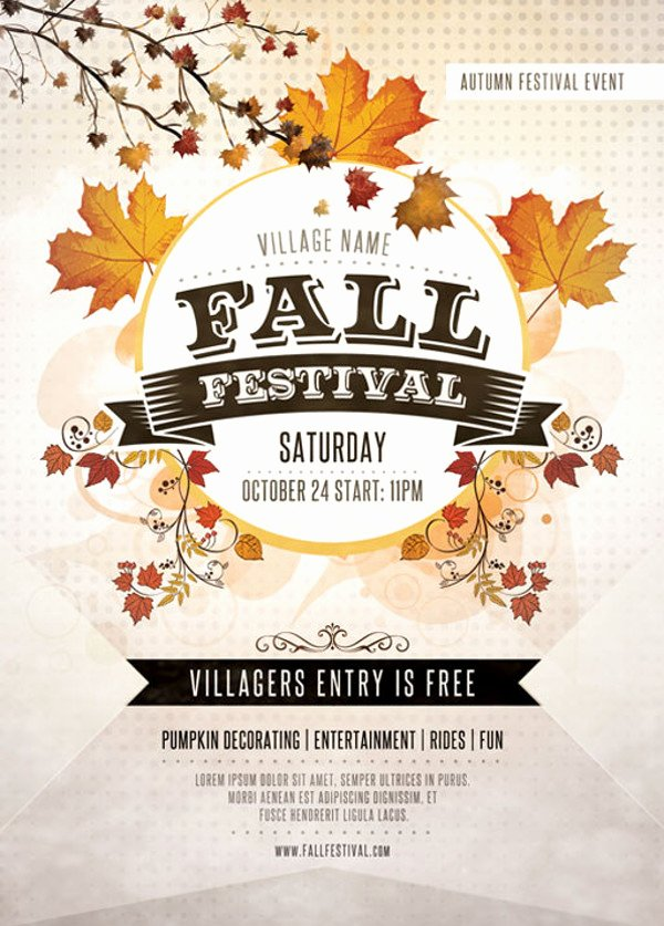 Fall Fest Flyer Template Awesome 35 Elegant Festival Flyer Design Templates Ai Word