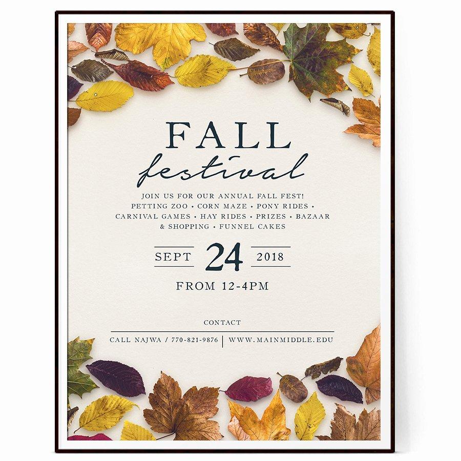 Fall Fest Flyer Template Best Of Fall Fest Flyer Template Psd Docx