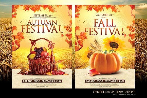Fall Fest Flyer Template Best Of Fall Festival Flyer Template Flyer Templates Creative