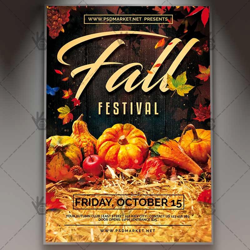 Fall Fest Flyer Template Elegant Fall Fest Premium Flyer Psd Template