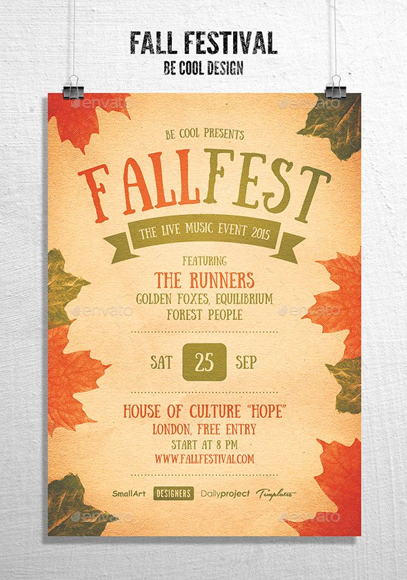 Fall Fest Flyer Template Elegant Fall Festival Flyer Poster by Be Cool