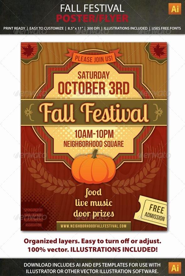 Fall Fest Flyer Template Elegant Fall Festival Poster or Flyer