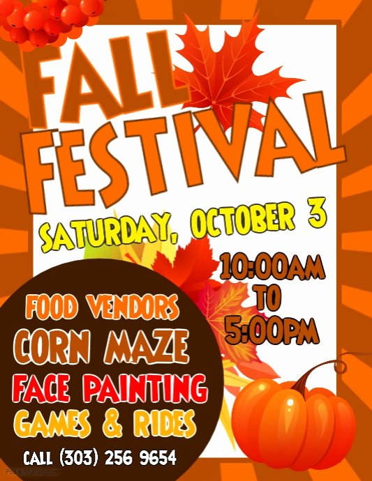 Fall Fest Flyer Template Fresh Copy Of Fall Festival Flyer