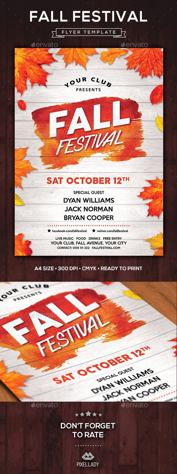 Fall Fest Flyer Template Fresh Fall Festival Flyer