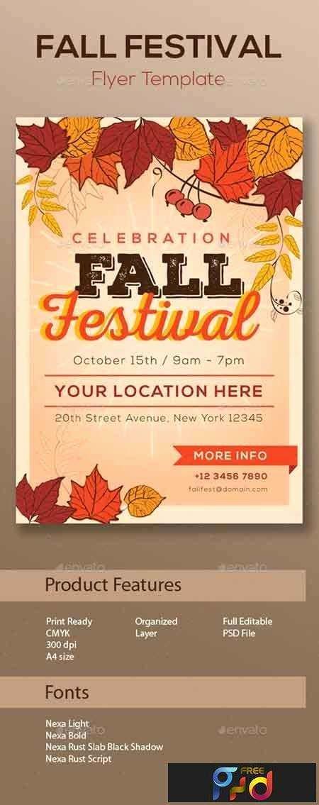 Fall Fest Flyer Template Inspirational Fall Festival Flyer Template • Freepsdvn