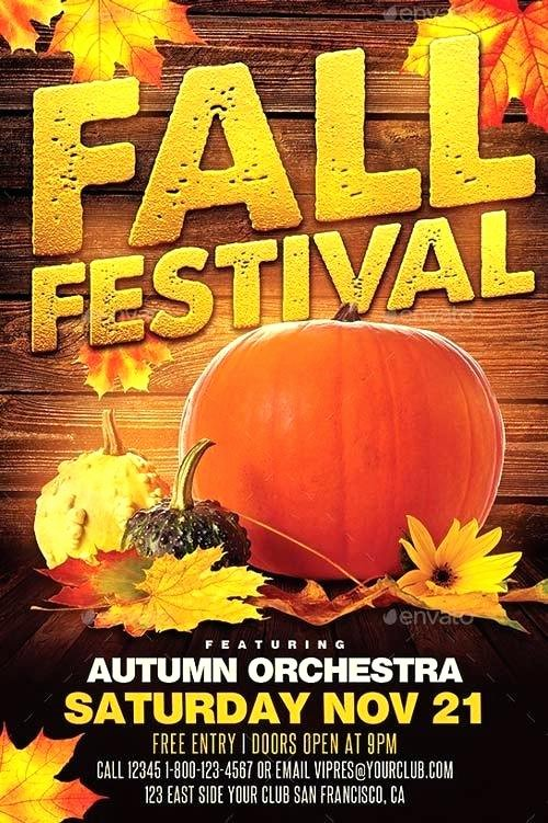 Fall Fest Flyer Template Inspirational Fall Festival Flyer Template Free Awesome Elegant