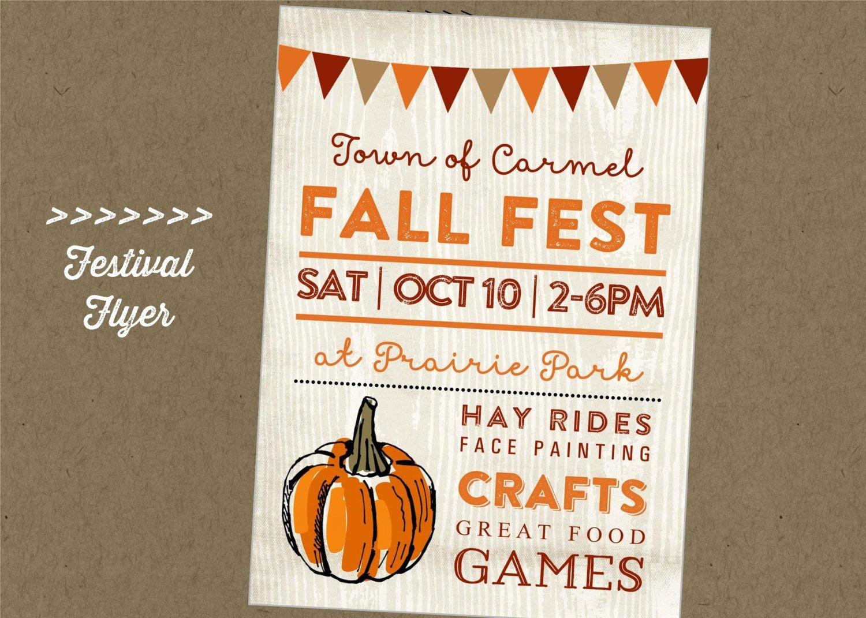 Fall Fest Flyer Template Lovely Fall Fest Printable Flyer Festival Craft Fair Vendor