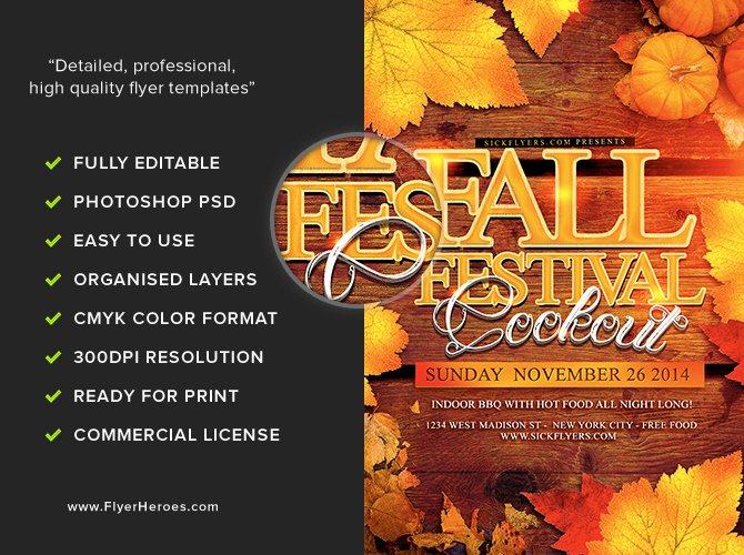 Fall Fest Flyer Template Lovely Fall Festival Flyer Template Flyerheroes