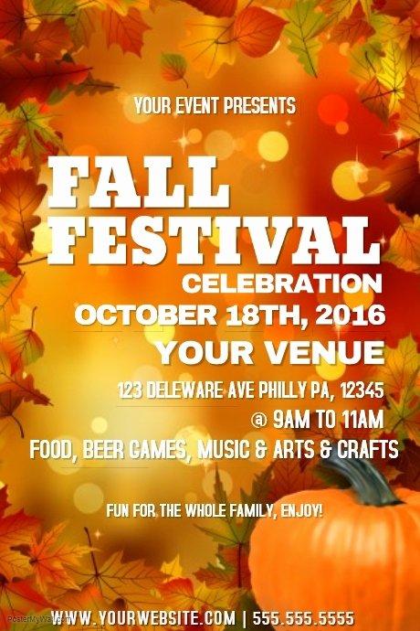 Fall Fest Flyer Template Lovely Fall Festival Template