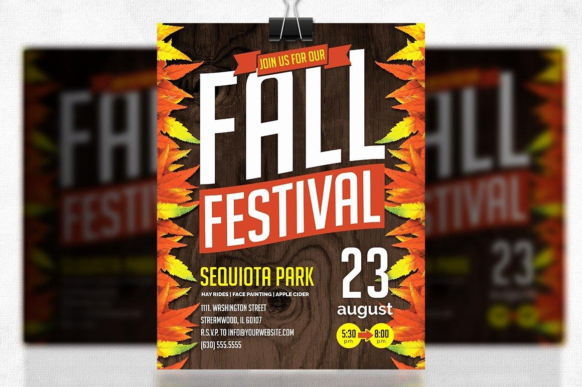 Fall Fest Flyer Template Luxury Fall Festival Flyer Flyer Templates Creative Market