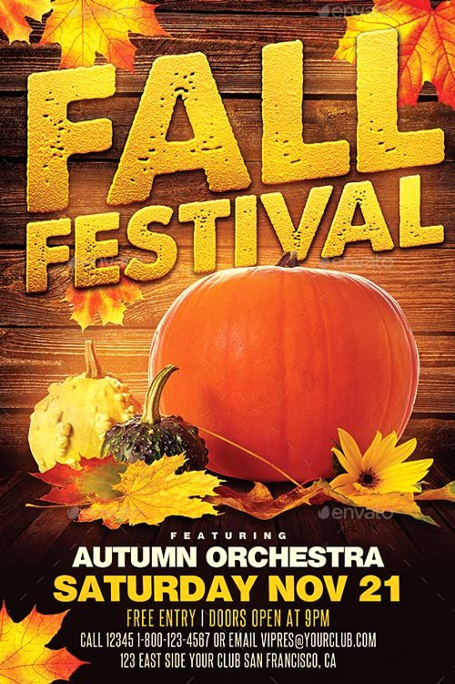 Fall Fest Flyer Template New Best Of Autumn Flyer Templates Free and Premium Flyer