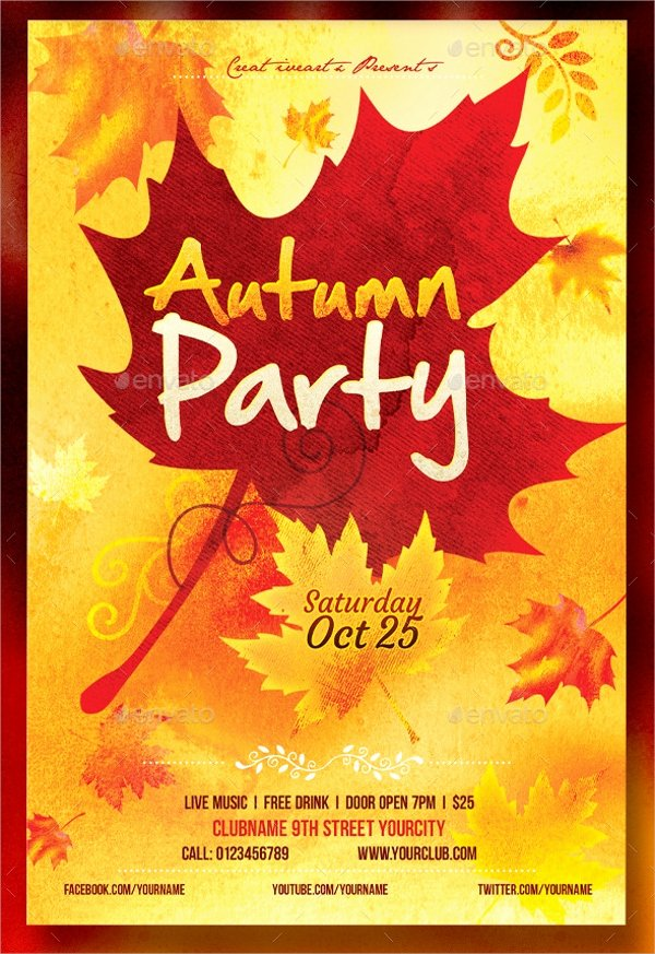 Fall Fest Flyer Template Unique 21 Fall Flyer Templates