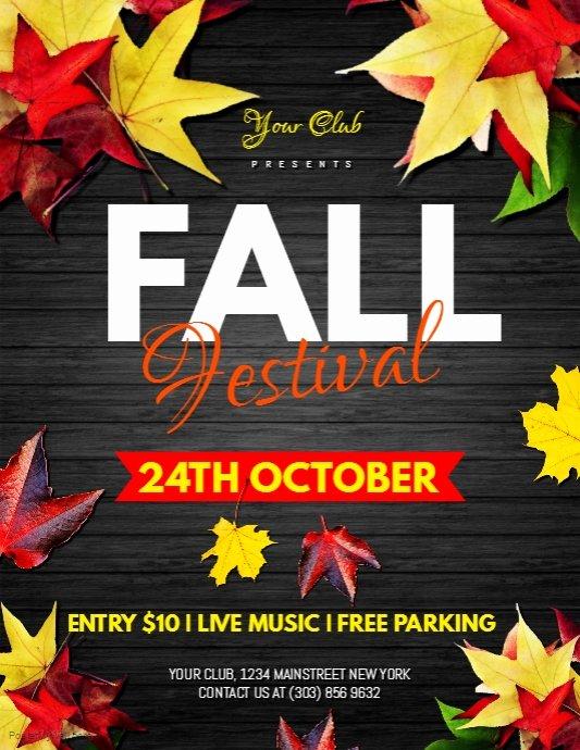 Fall Fest Flyer Template Unique Fall Festival Flyer Template