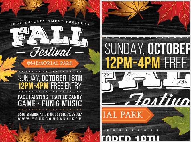 Fall Festival Flyer Template Awesome Fall Festival Flyer Template 2 Flyerheroes