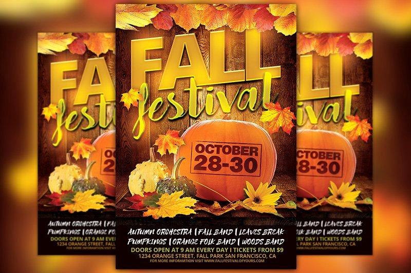 Fall Festival Flyer Template Beautiful Fall Festival Flyer Template Flyer Templates Creative