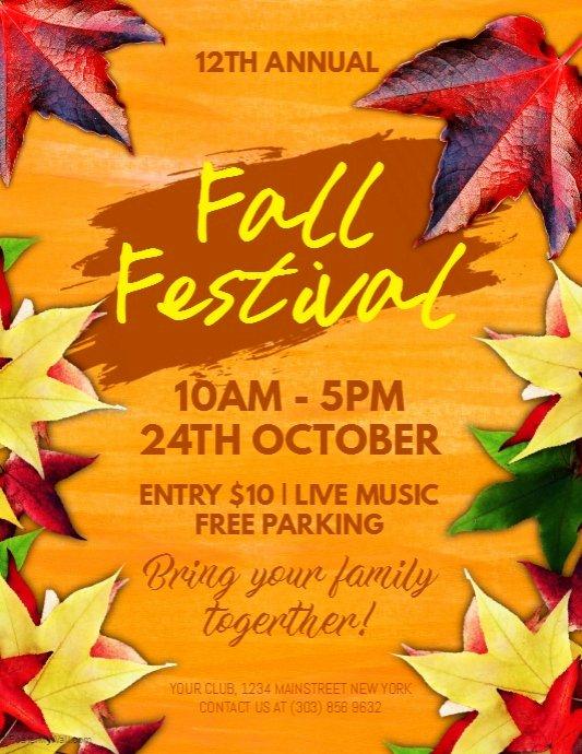 Fall Festival Flyer Template Beautiful Fall Festival Flyer Template