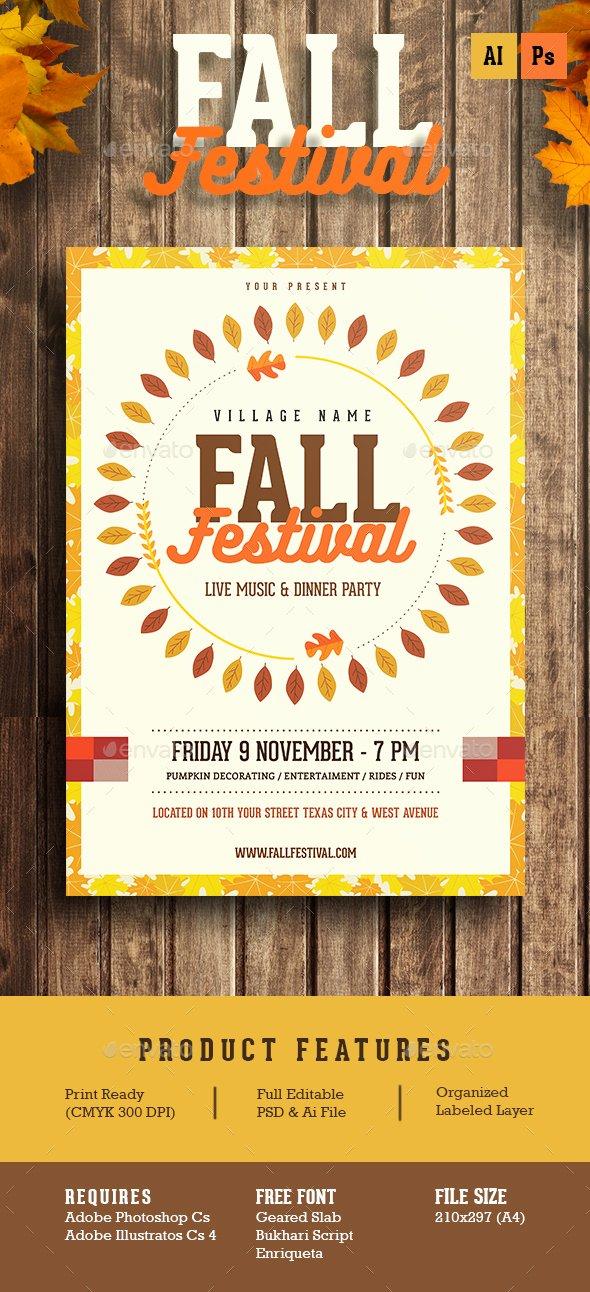 Fall Festival Flyer Template Elegant Fall Festival Flyer by Guuver