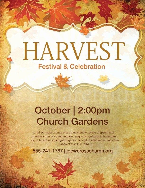 Fall Festival Flyer Template Fresh Church Harvest Festival Flyer Template