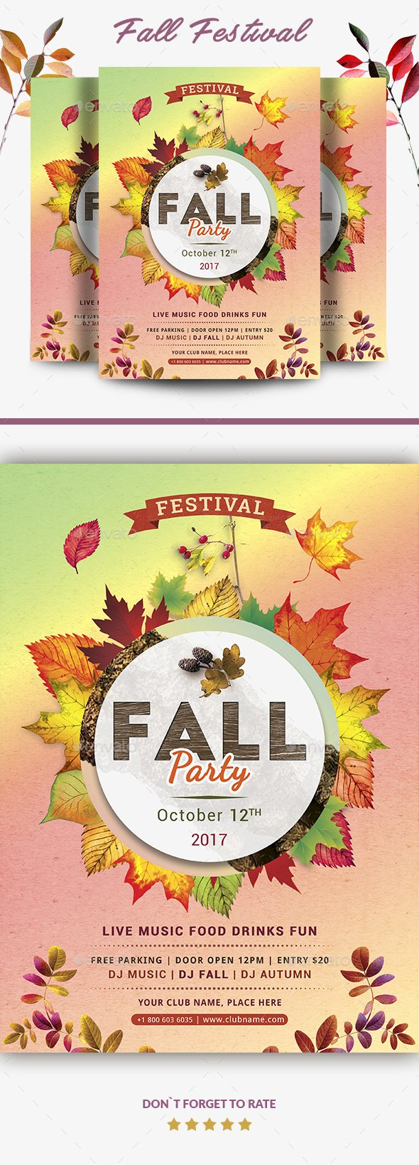 Fall Festival Flyer Template Fresh Fall Festival Flyer Template by Yoopiart
