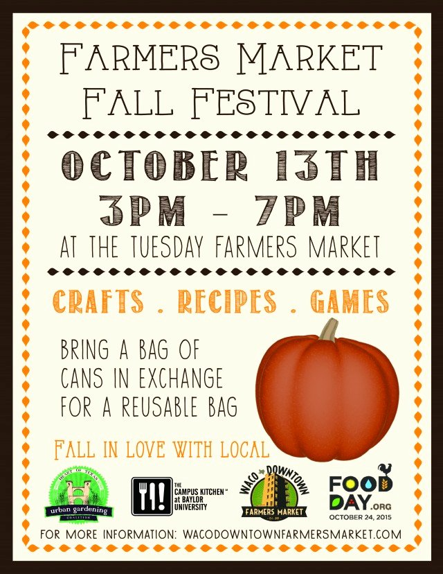Fall Festival Flyer Template Inspirational Tuesday Market to Celebrate Fall Festival Next Week