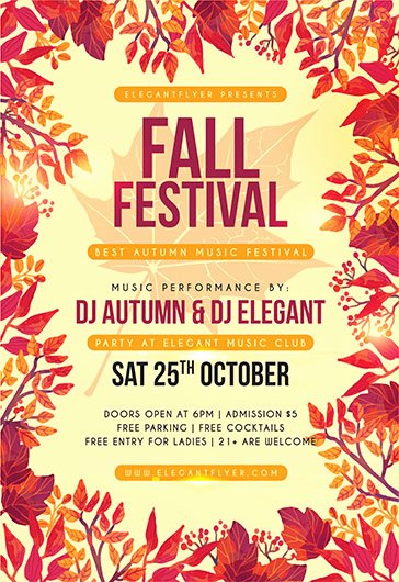 Fall Festival Flyer Template New Free Psd Flyer Templates for Shop by Elegantflyer