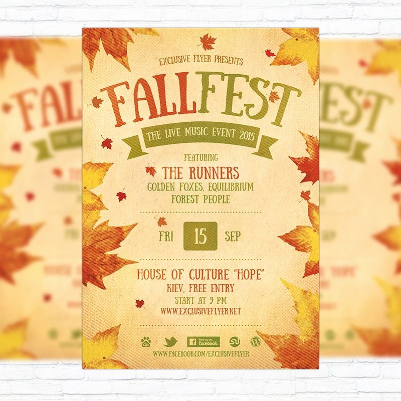 Fall Festival Flyer Template Unique Fall Festival Flyer Template Printable Flyers In Word