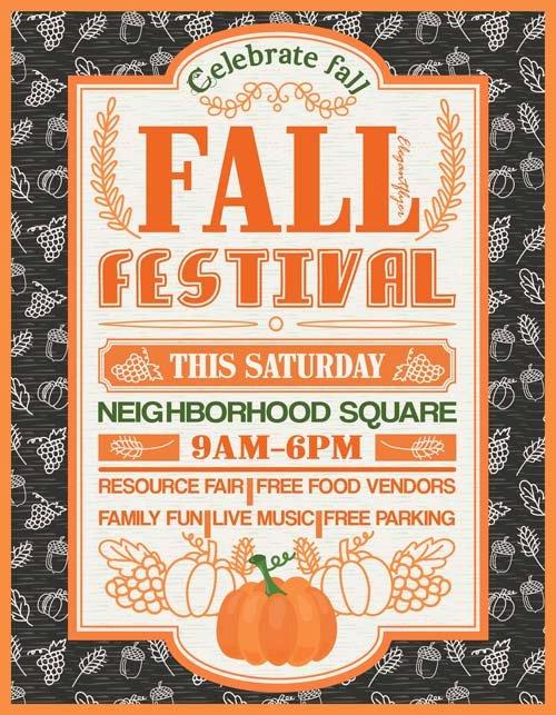 Fall Festival Flyer Template Unique Fall Festival Free Party Flyer Template Download Free Flyer