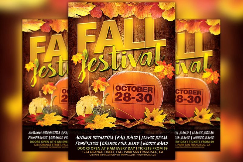 Fall Festival Flyers Template Awesome Fall Festival Flyer Template Flyer Templates Creative