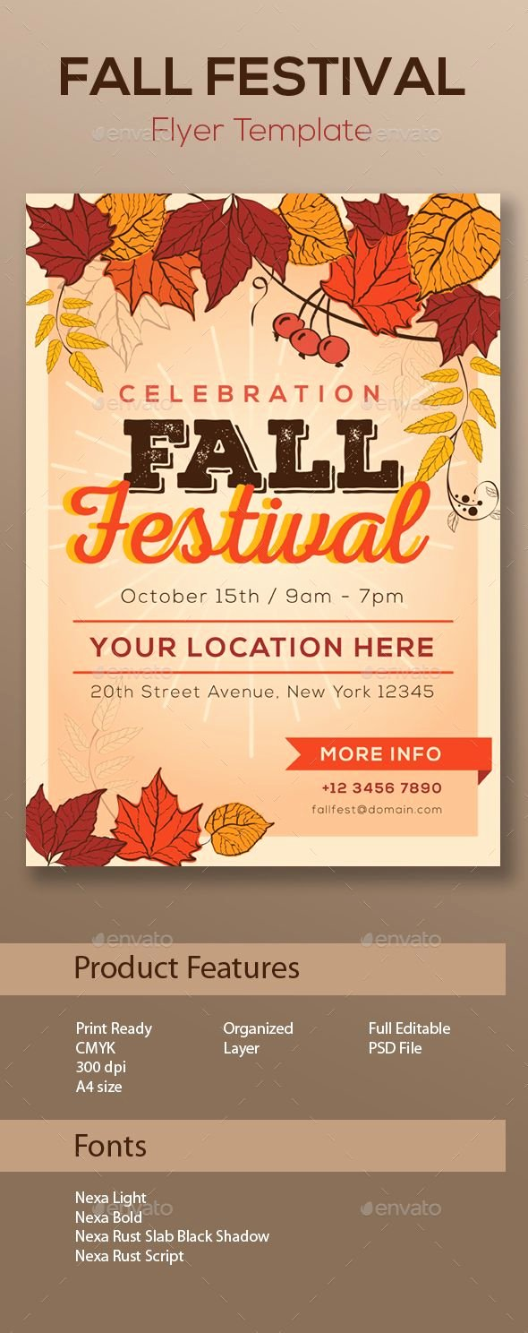 Fall Festival Flyers Template Awesome Fall Festival Flyer Template